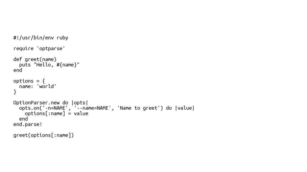 #!/usr/bin/env ruby require 'optparse' def gree...