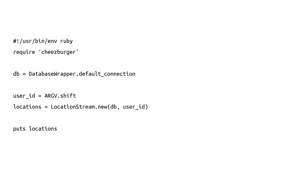 #!/usr/bin/env ruby require 'cheezburger' db = ...
