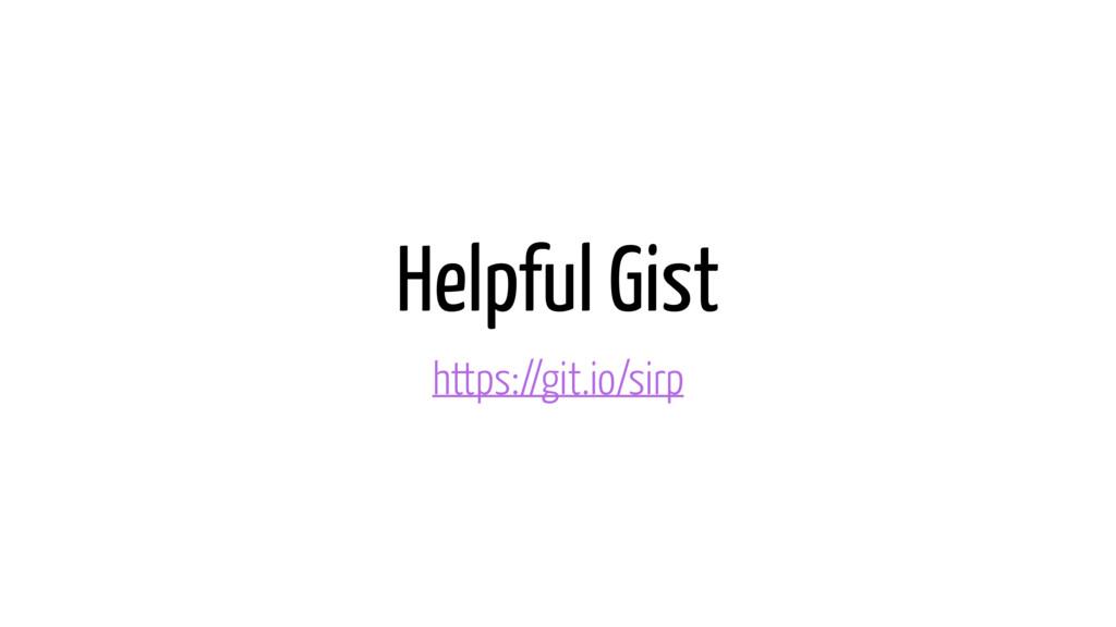 Helpful Gist https://git.io/sirp