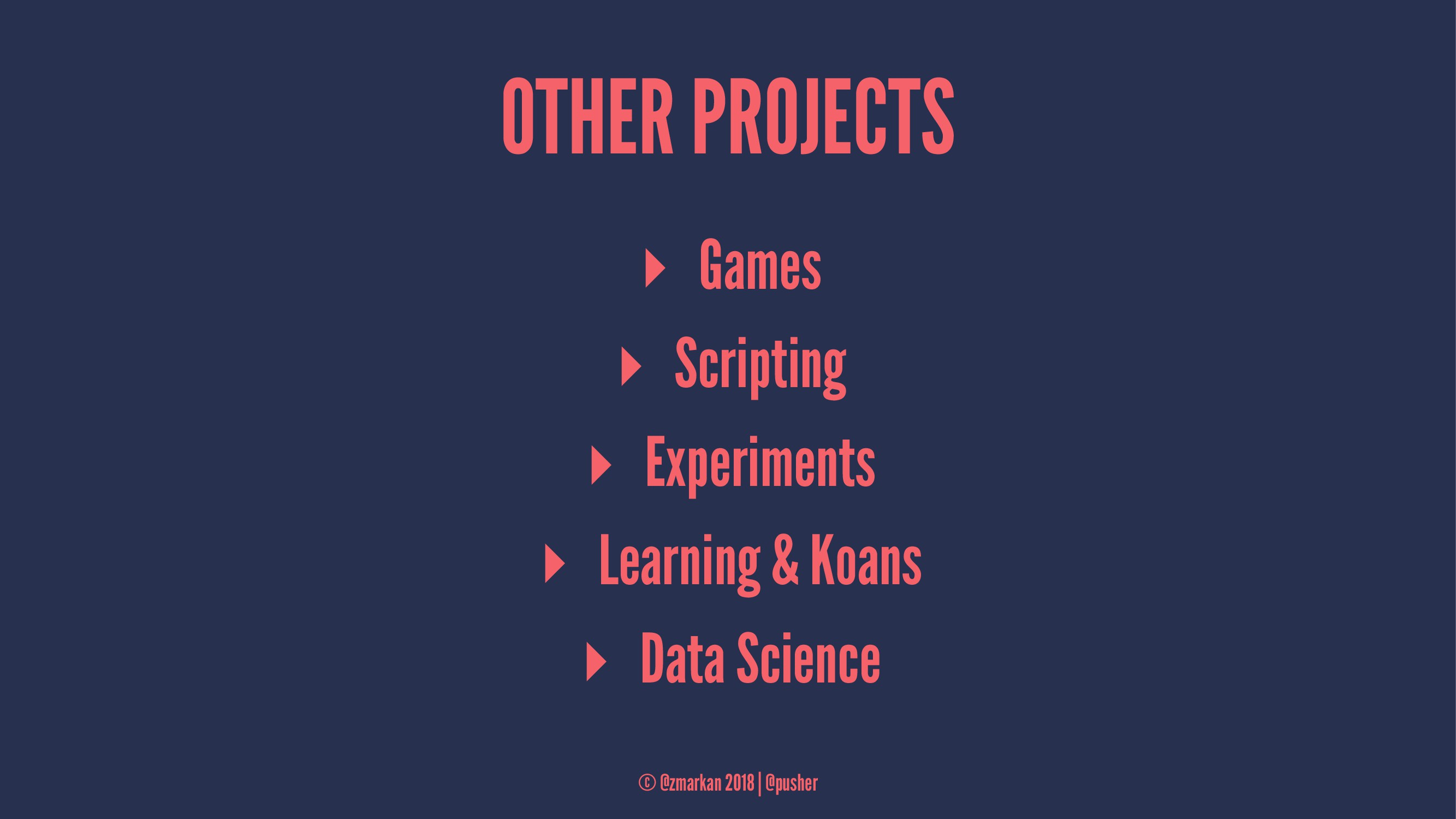 OTHER PROJECTS ▸ Games ▸ Scripting ▸ Experiment...