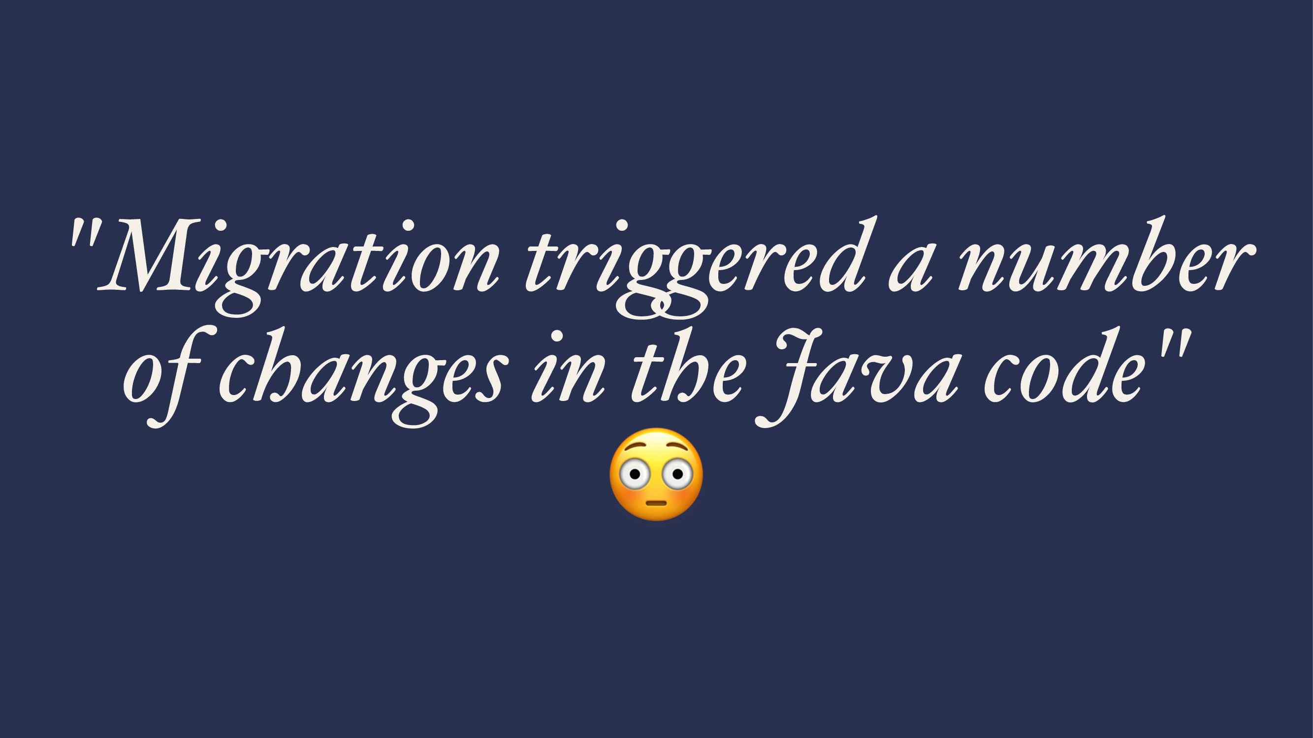 """""""Migration tri!ered a number of changes in the ..."""