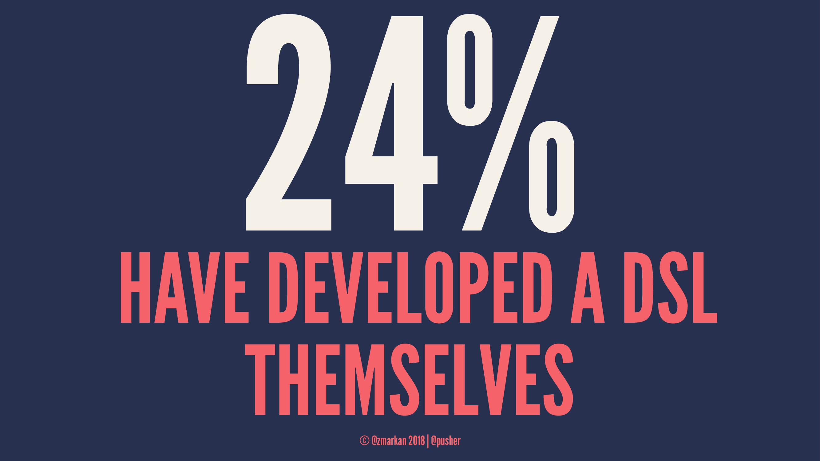 24% HAVE DEVELOPED A DSL THEMSELVES © @zmarkan ...