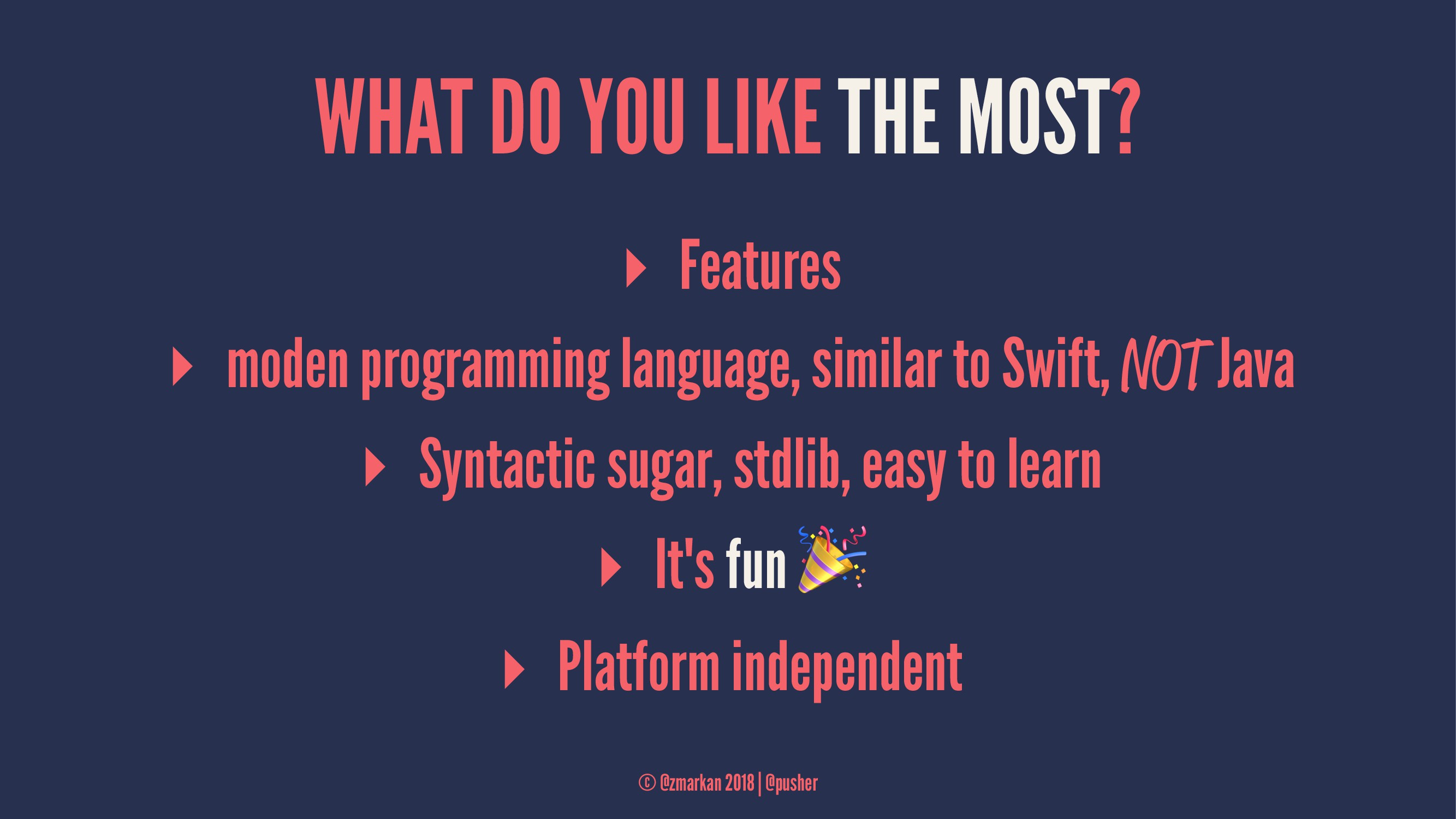 WHAT DO YOU LIKE THE MOST? ▸ Features ▸ moden p...
