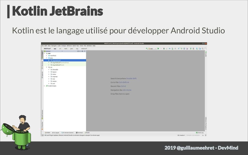 Kotlin est le langage utilisé pour développer A...
