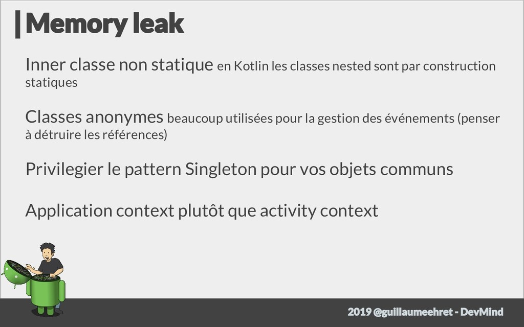 Inner classe non statique en Kotlin les classes...