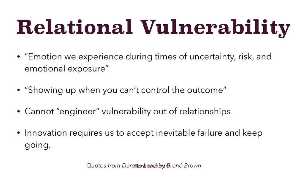 "@rmillerwebster Relational Vulnerability • ""Emo..."