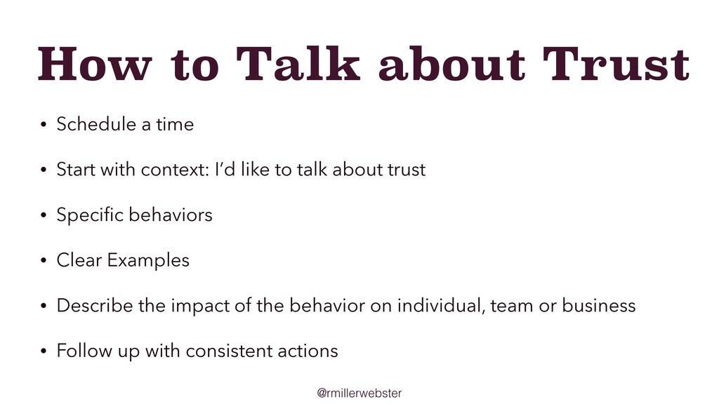 @rmillerwebster How to Talk about Trust • Sched...