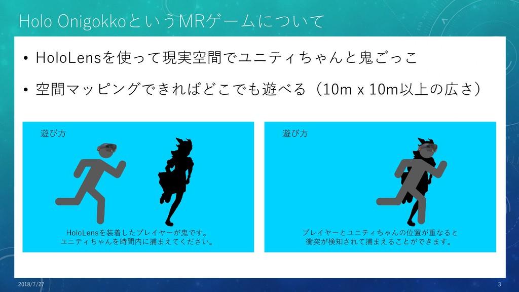 Holo OnigokkoというMRゲームについて • HoloLensを使って現実空間でユニ...