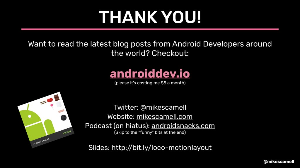 @mikescamell THANK YOU! Want to read the latest...