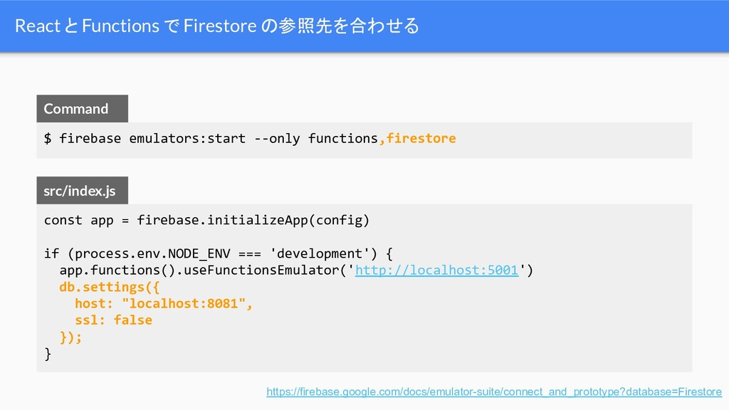 const app = firebase.initializeApp(config) if (...