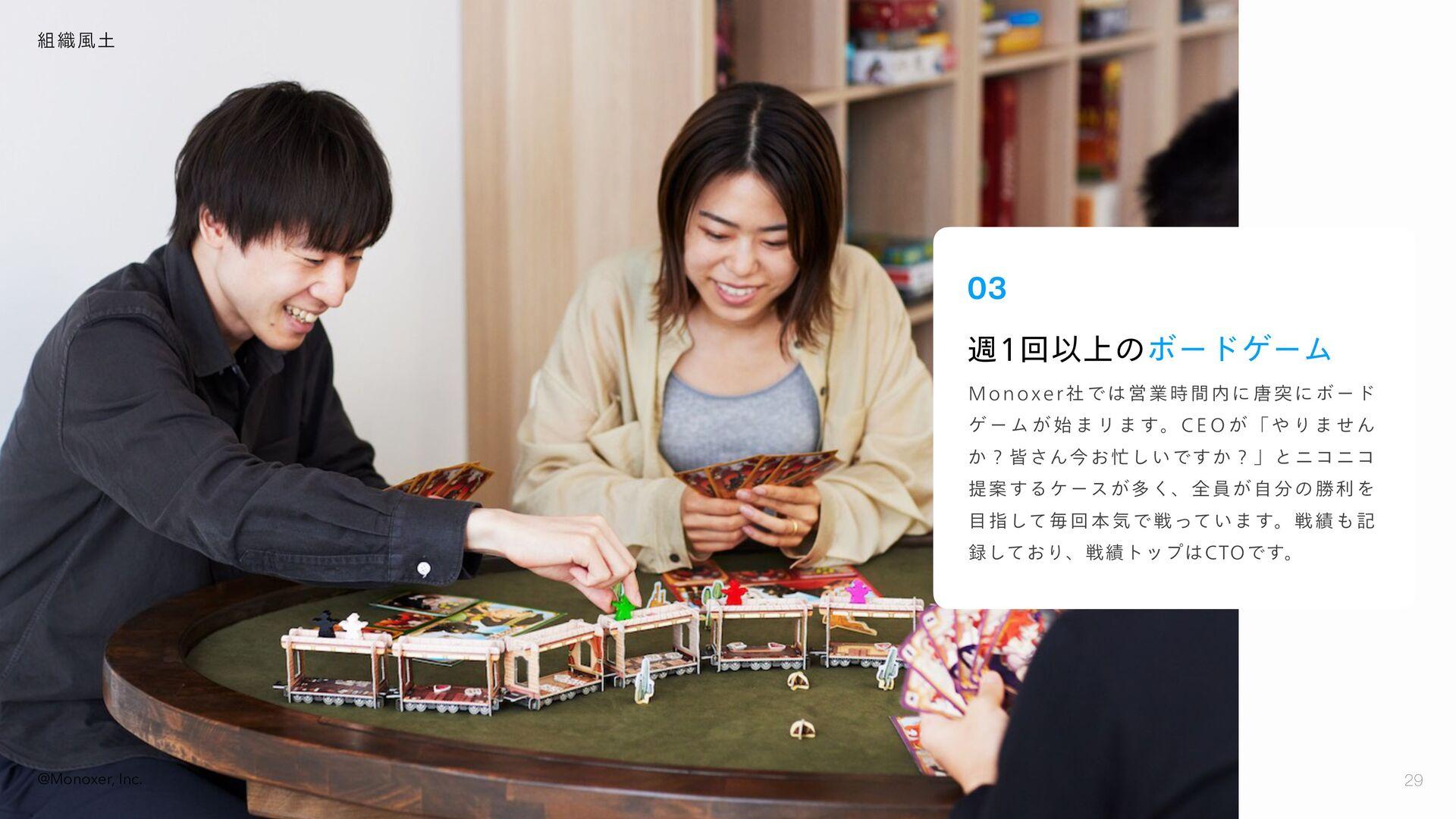福利厚生・社内制度 29 29 @Monoxer, Inc. • ビジネス・コーポレート職:企...