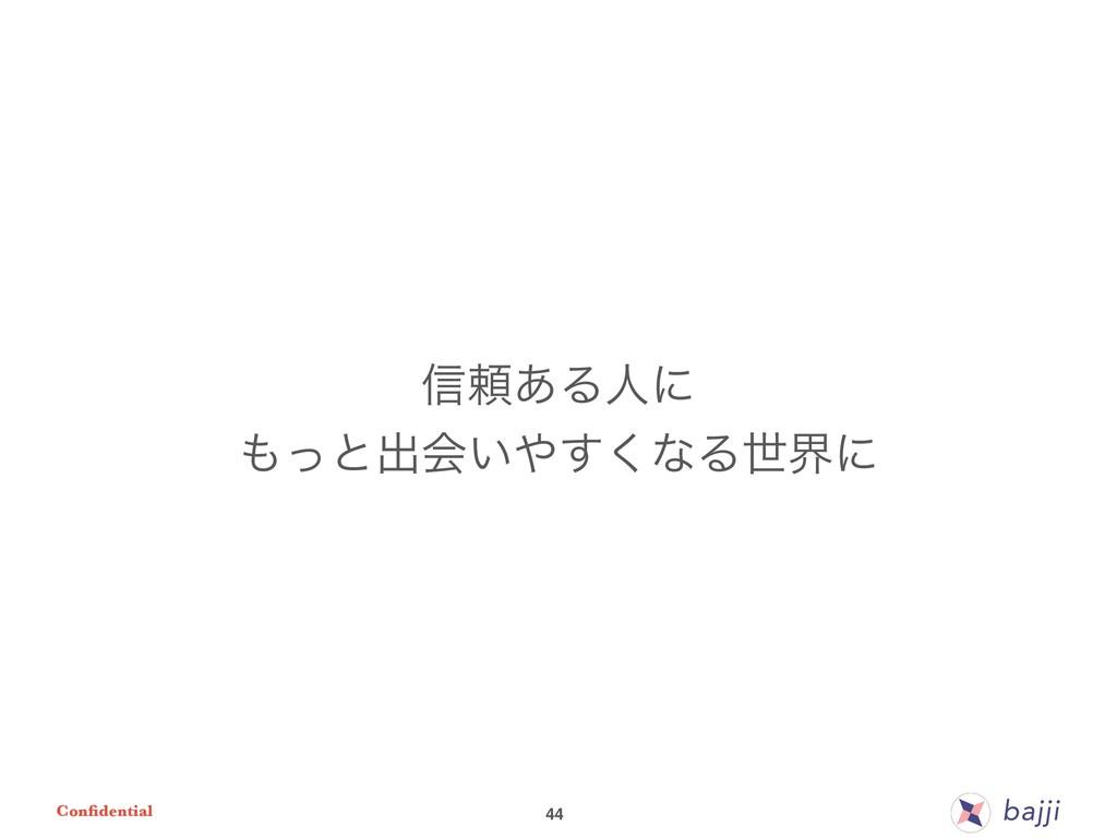 Confidential 44 ৴པ͋Δਓʹ ͬͱग़ձ͍͘͢ͳΔੈքʹ