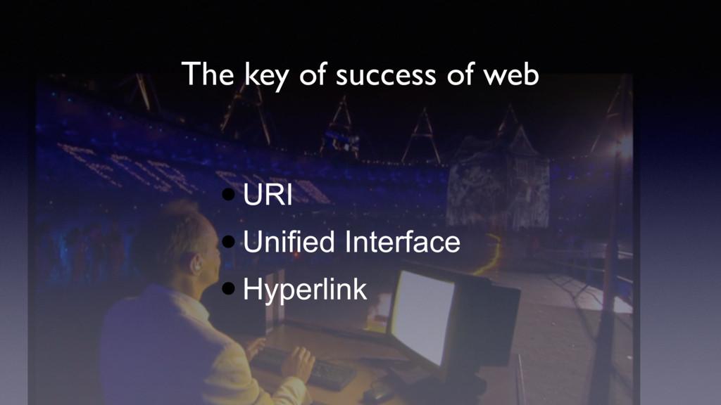 The key of success of web •URI •Unified Interfa...