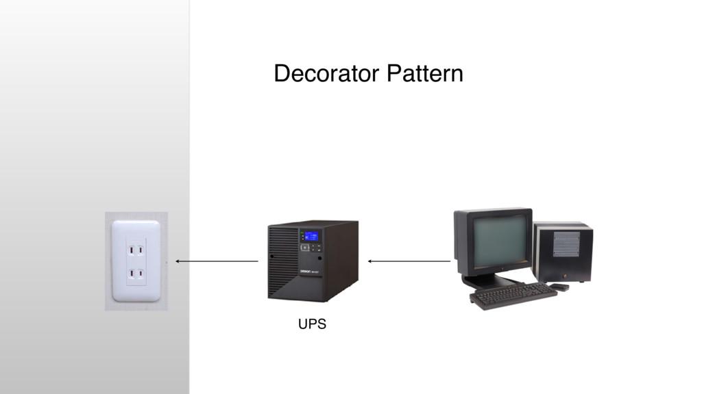 Decorator Pattern UPS