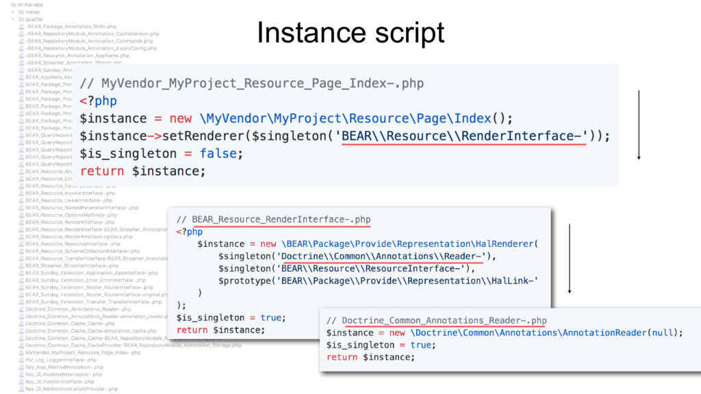 Instance script