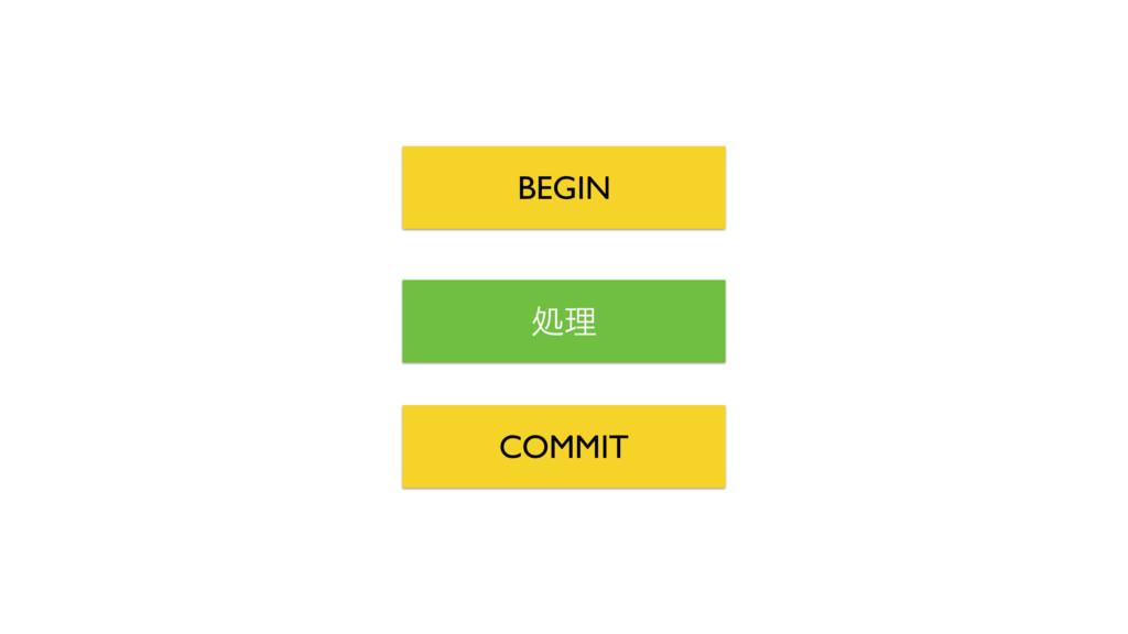 ॲཧ BEGIN COMMIT