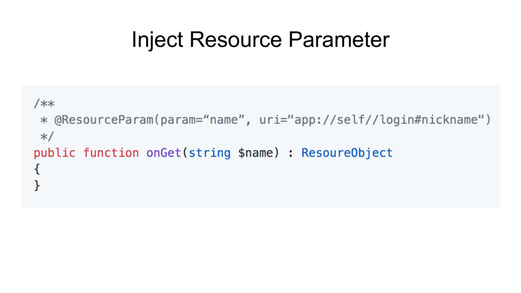 Inject Resource Parameter