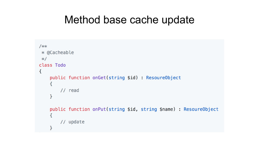 Method base cache update