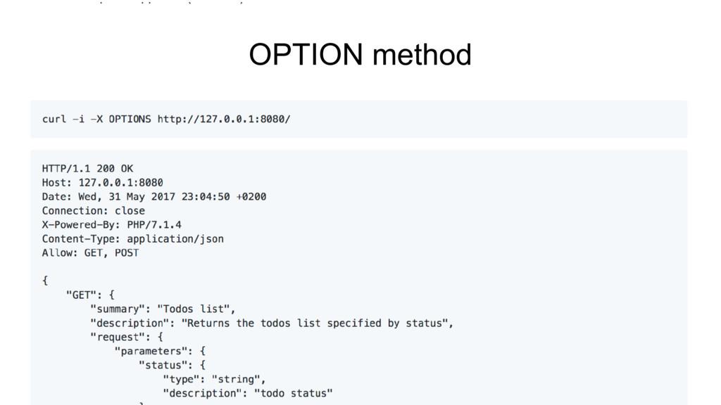 OPTION method