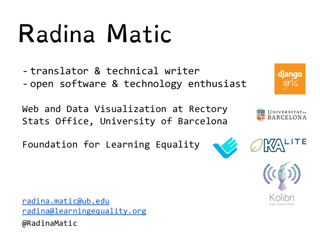 Radina Matic - translator & technical writer - ...