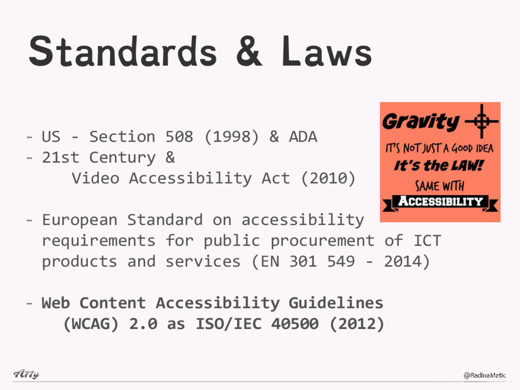 Standards & Laws - US - Section 508 (1998) & AD...