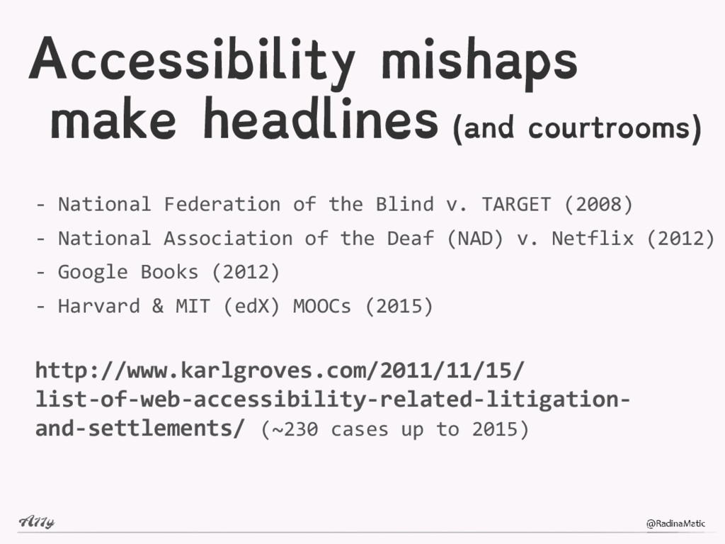 Accessibility mishaps make headlines (and court...