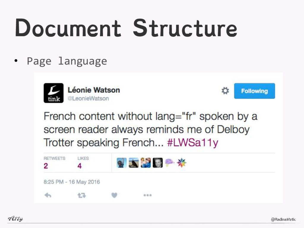 Document Structure • Page language