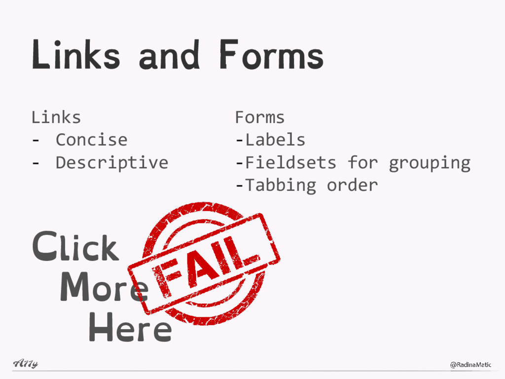 Links and Forms Links - Concise - Descriptive C...