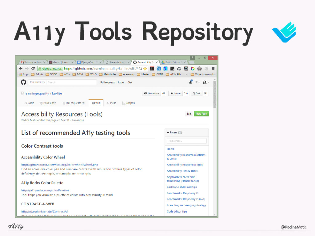 A11y Tools Repository