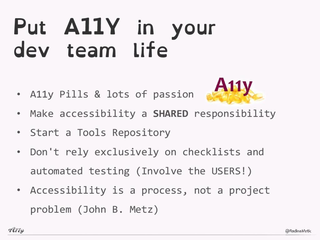 Put A11Y in your dev team life • A11y Pills & l...