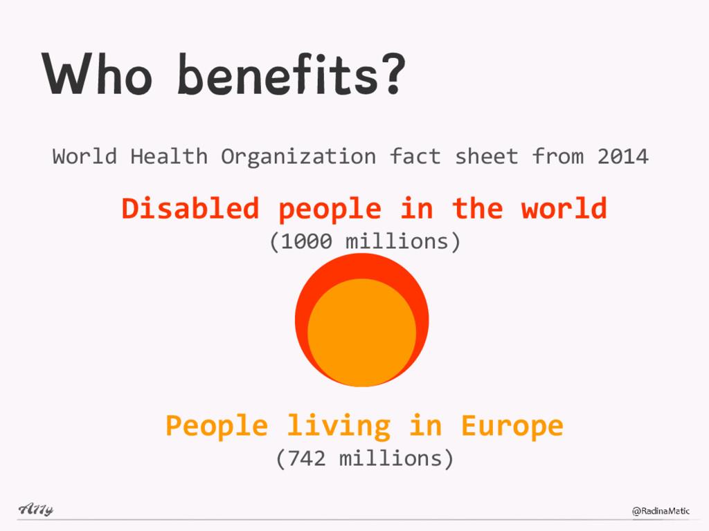 Who benefits? World Health Organization fact sh...