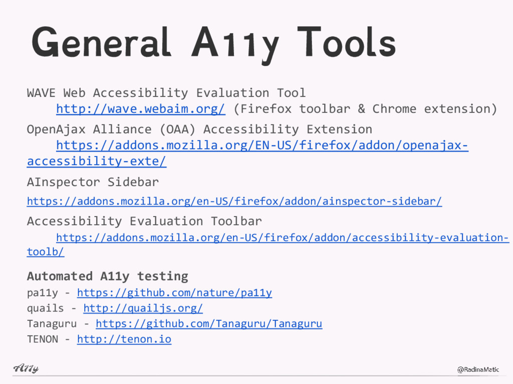 General A11y Tools WAVE Web Accessibility Evalu...