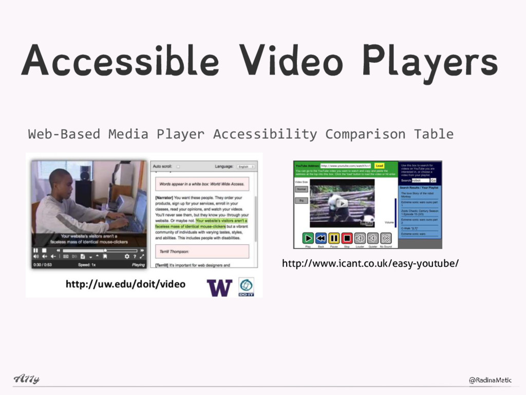 Accessible Video Players http://www.icant.co.uk...