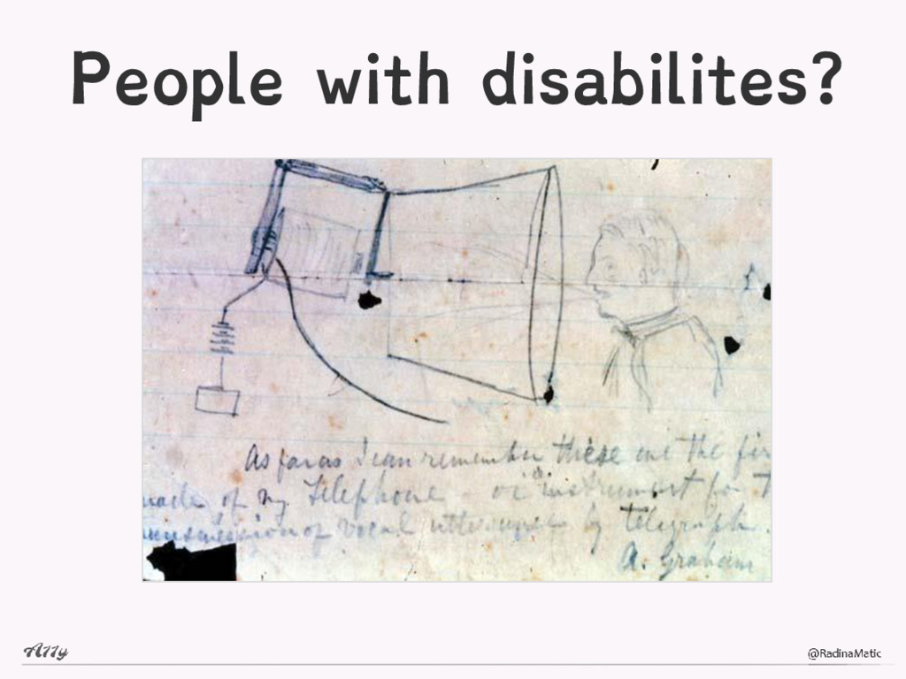 People with disabilites?