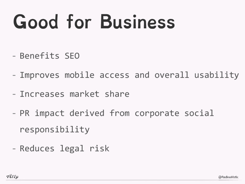 Good for Business - Benefits SEO - Improves mob...