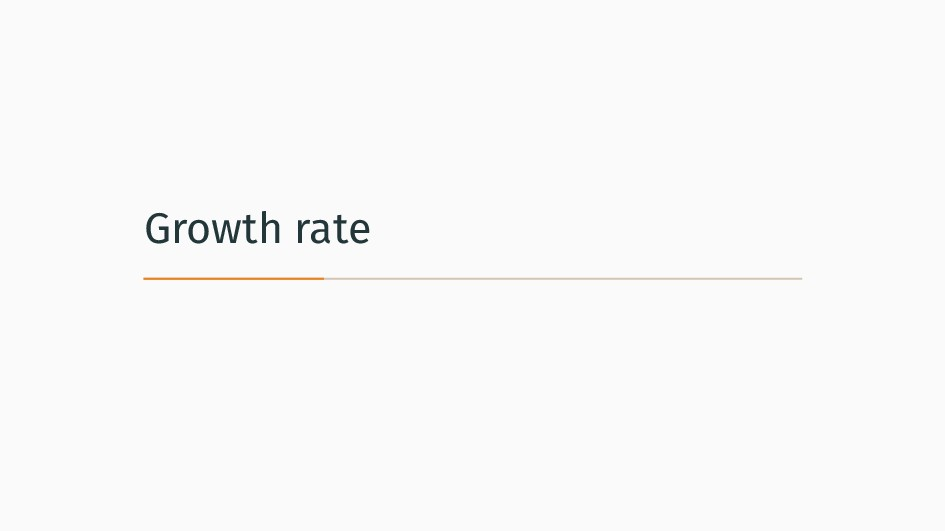 Growth rate