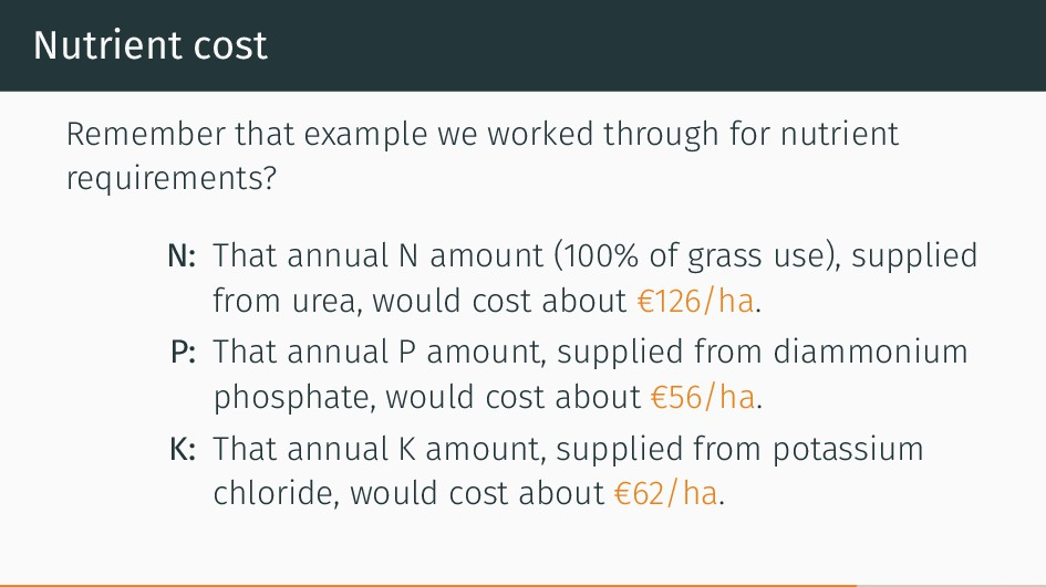 Nutrient cost Remember that example we worked t...