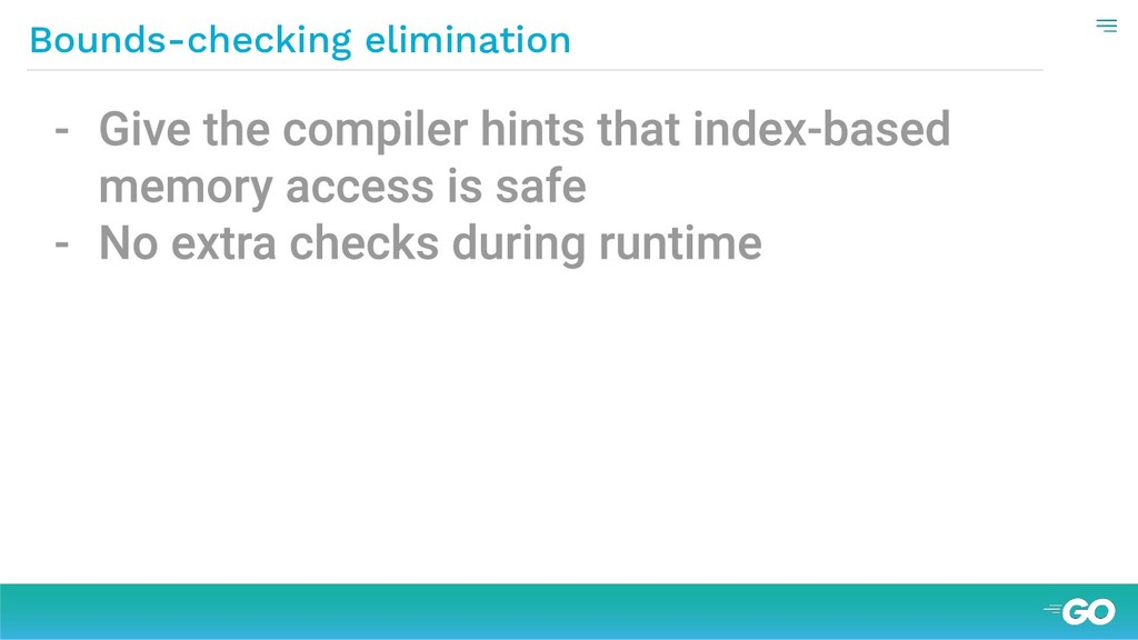 Bounds-checking elimination