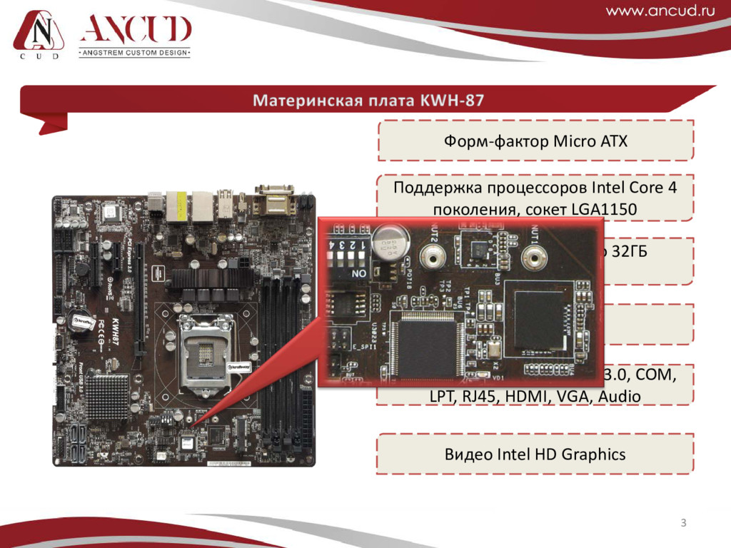 3 Форм-фактор Micro ATX Поддержка процессоров I...