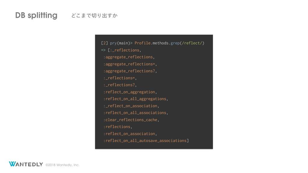 ©2018 Wantedly, Inc. DB splitting Ͳ͜·ͰΓग़͔͢ [2]...