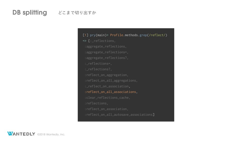 ©2018 Wantedly, Inc. DB splitting Ͳ͜·ͰΓग़͔͢ [1]...