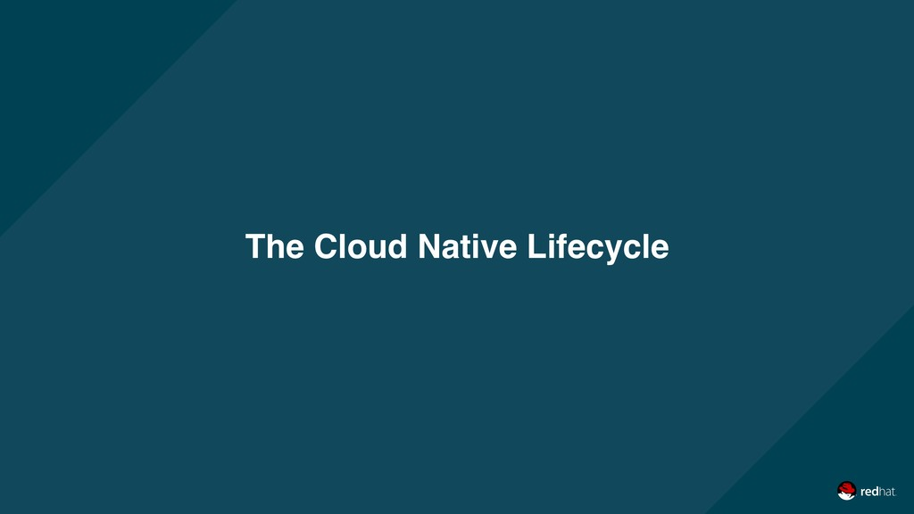 The Cloud Native Lifecycle