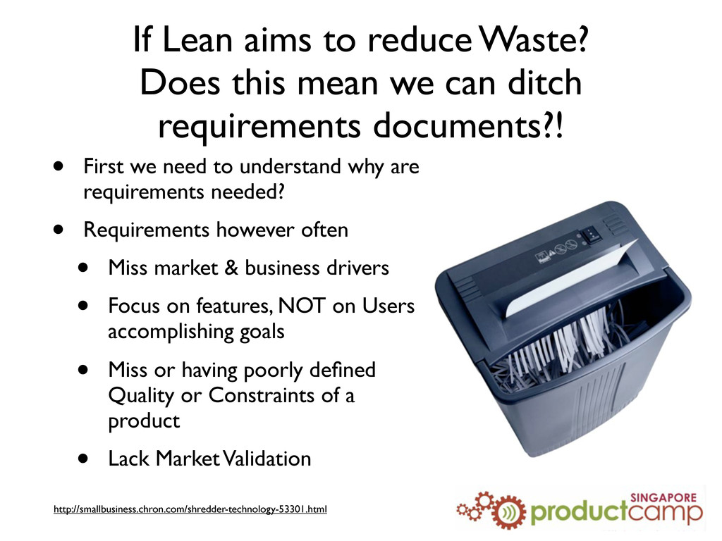 If Lean aims to reduce Waste? Does this mean we...