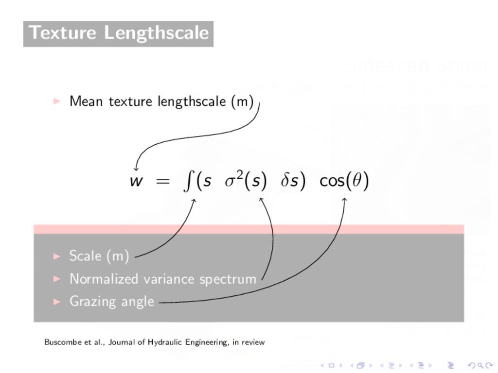 Texture Lengthscale Mean texture lengthscale (m...