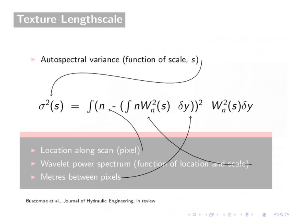 Texture Lengthscale Autospectral variance (func...