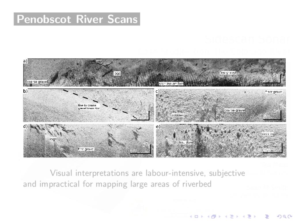 Penobscot River Scans Visual interpretations ar...