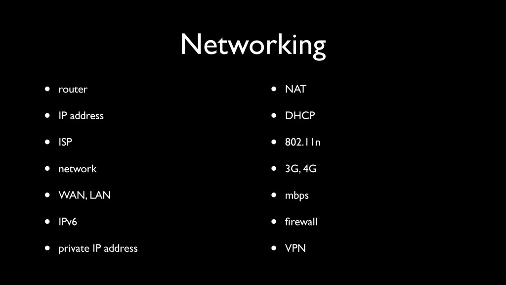 Networking • router • IP address • ISP • networ...