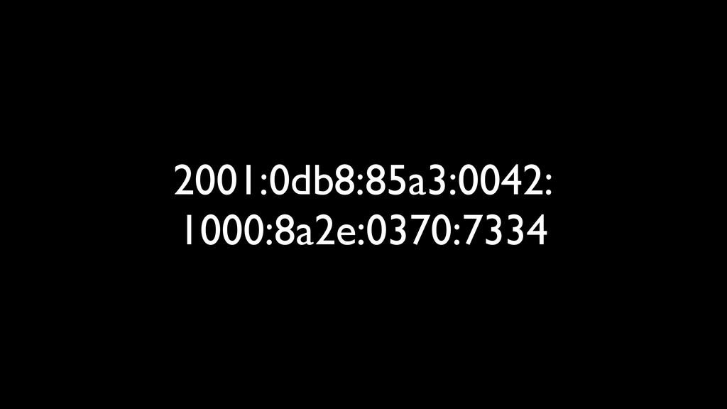 2001:0db8:85a3:0042: 1000:8a2e:0370:7334