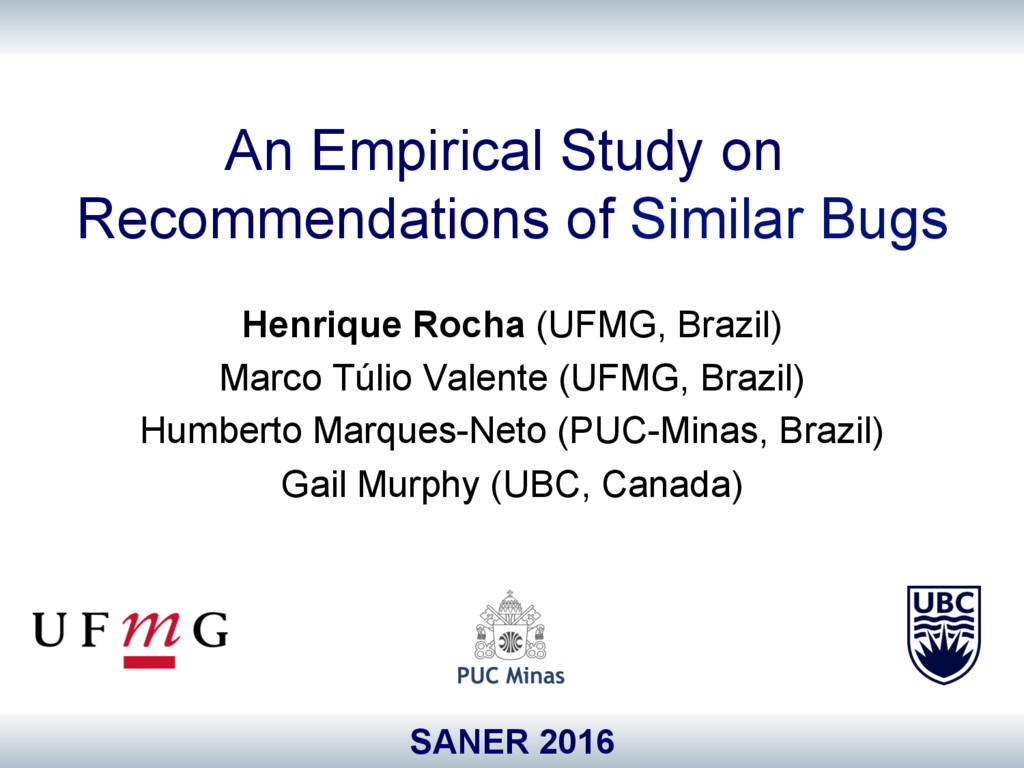 An Empirical Study on Recommendations of Simila...