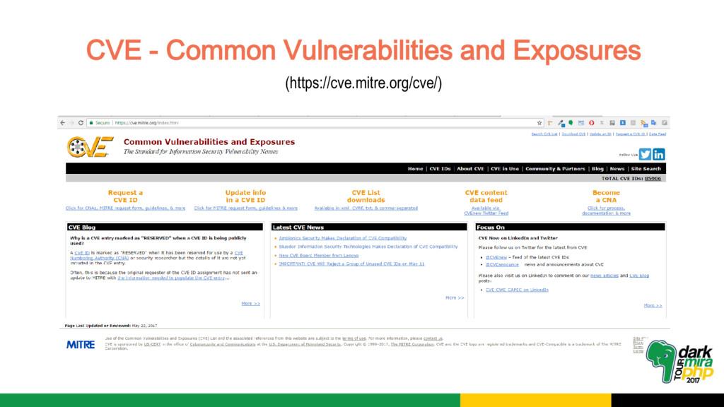 CVE - Common Vulnerabilities and Exposures (htt...